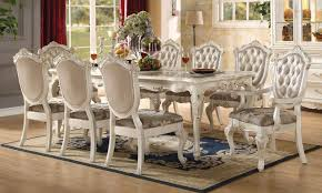 Acme Furniture Chantelle Dining Table Pearl By Acme