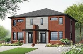 Multigenerational House Plans With Two Kitchens Duplex Triplex And Multi Unit Home Plans From Drummondhouseplans Com