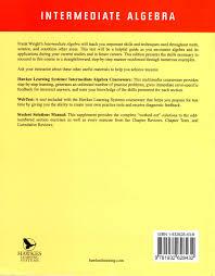 intermediate algebra 6th edition d franklin wright