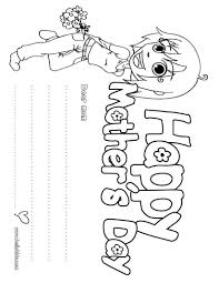 childrens coloring pages for mothers day eliolera com