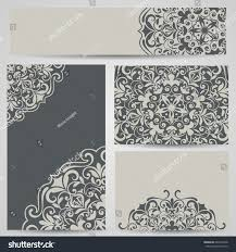 grey cards floral ornaments vector template stock vector 642470338
