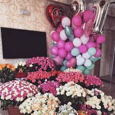 bae flowers and balloon at 3 20 birthday party decoration decorations 20th
