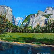 yosemite national park in the spring painting by charles and