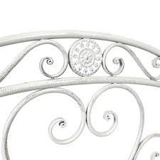 bentley garden white wrought iron bench buydirect4u
