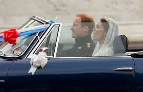 just a car for the royal wedding prince william and kate middleton in their getaway