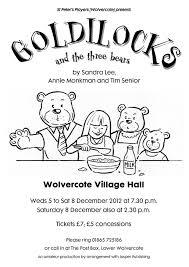 goldilocks and the three bears st peter u0027s players wolvercote