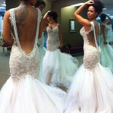 mermaid wedding dress mermaid backless wedding bridal gown dress with lace