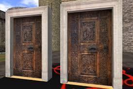 second marketplace ornate castle door house door