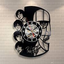 vinyl evolution pink floyd art vinyl record clock wall decor home