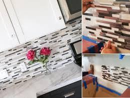 diy tile backsplash kitchen fascinating top diy kitchen backsplash ideas pics of can you tile
