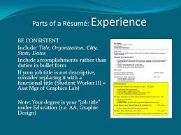 Descriptive Title Resume