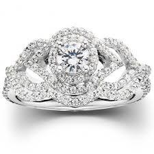 10k wedding ring 1 ct intertwined engagement matching wedding ring set 10k