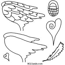 paper doll printables angel wings hopoff printable angel wing