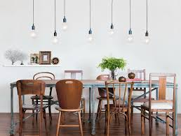 Lighting Over Dining Room Table Multiple Simple Bare Bulb Pendants Over Dining Table I Love