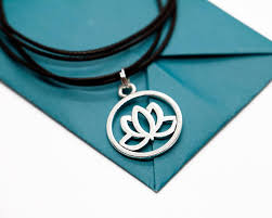 necklace gift images Lotus necklace lotus flower yoga jewelry yoga gifts choker jpg