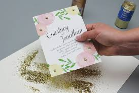 wedding invitation exle garden bouquet wedding invitation print