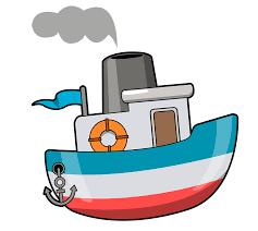cartoon fishing boat clipart 46