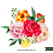 flower bouquet pictures watercolor bouquet of flowers vector free