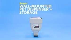wall mounted dry food dispenser bergan wall mounted pet dispenser u0026 storage 40 lb storage chewy com