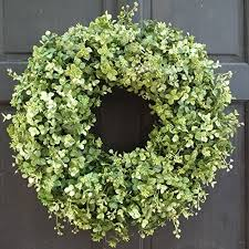 artificial boxwood wreath artificial boxwood and eucalyptus wreath for year