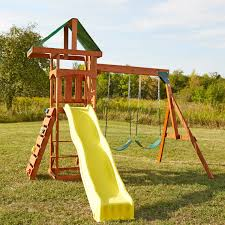 exterior oak wood frame cedar summit playset for appealing