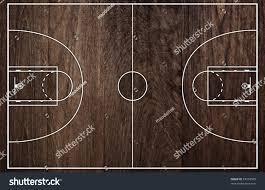 basketball court floor plan on old stock illustration 63354568