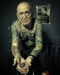 Old Man Tattoo Meme - shocking pictures of tattoos on old people