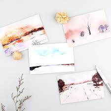 post card invitation aliexpress com buy 30pcs landscape painting style postcard say