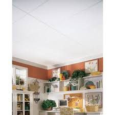 24 X 48 Ceiling Tiles Drop Ceiling by Shop Armstrong 8 Pack 24 In X 48 In Plain White Homestyle Ceiling