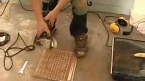 floor tile cutting part 2 cutting with a wet tile saw video
