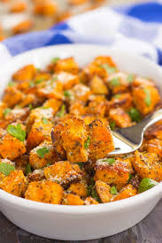 roasted parmesan herb sweet potatoes pumpkin n spice