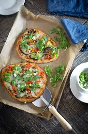How To Make Roasted Vegetables by The Chubby Vegetarian Oven Roasted Vegetable Naan Pizza With