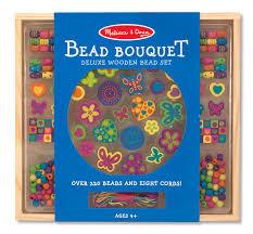 doug amazon com melissa u0026 doug bead bouquet deluxe wooden bead set
