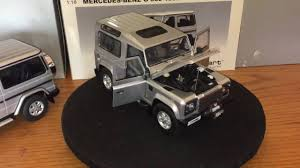 land rover minichamps 1 18 land rover defender by kyosho are beautifull rare diecast