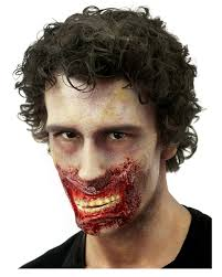 zombie jaw wound open mouth latex wound horror shop com