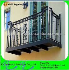 morden wrought iron balcony short railings design view steel