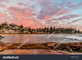 Gosford Central Coast Australia Reverse Sunrise Seascape Taken Avoca Beach Stock Photo 675623851