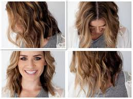 wavy hair tutorial long bob short hair curls hair tutorial