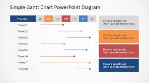 Free Fishbone Diagram Template Powerpoint by Simple Gantt Chart Powerpoint Diagram Slidemodel