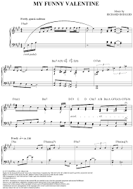 my funny valentine sheet music music for piano and more