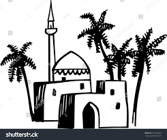 mansion clipart black and white arabic house stock vector 101655823 shutterstock
