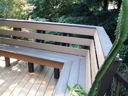 Build Deck Bench Seating Outdoor Deck Benches Deck Bench Brackets Deck Benches Plans Indoor