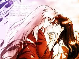inuyasha inuyasha and kagome kiss wallpaper