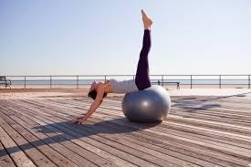 Balance Ball Chair With Arms Yoga Workout On The Exercise Ball
