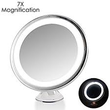 black touch control lighted makeup mirror amazon com 7x magnifying lighted makeup mirror oenbopo 360
