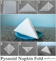 how to make fancy table napkins pyramid napkin fold how to fold a napkin pinterest napkins