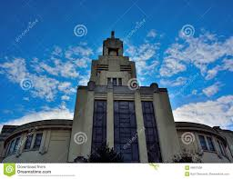 art deco architecture in brussels modern church editorial photo