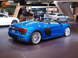 audi v10 convertible 2017 audi r8 v10 spyder is an open air track weapon autoguide
