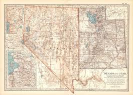 map of nevada 1902 century atlas map of nevada utah salt lake city vegas