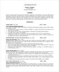 Example Of Chronological Resume by Resume Format Example 8 Samples In Word Pdf